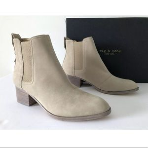 RAG & BONE WALKER WARM GREY SUEDE ANKLE BOOTS 40